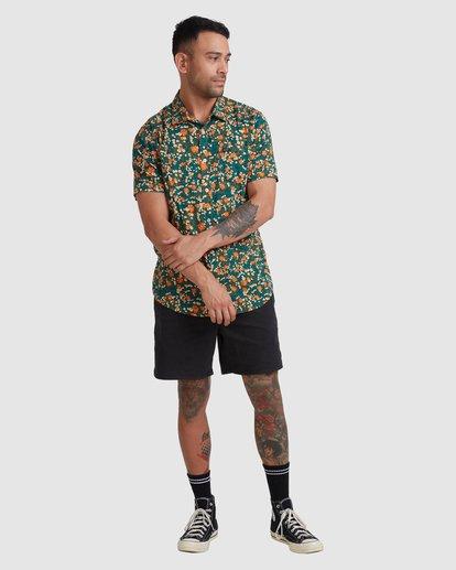 4 Baritone Short Sleeve Shirt Orange R315188 RVCA