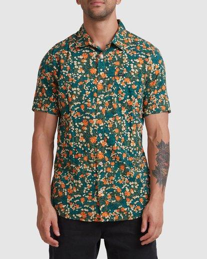 0 Baritone Short Sleeve Shirt Orange R315188 RVCA