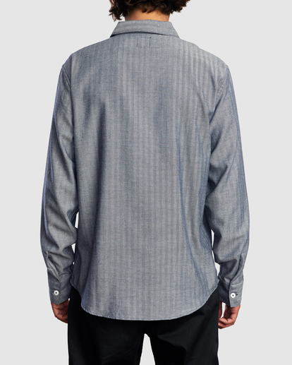 1 Day Shift Long Sleeve Shirt Blue R315189 RVCA