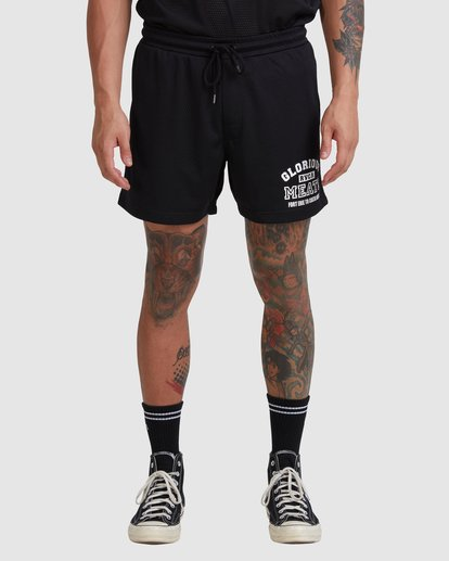 1 Matty Mesh Short Black R315407 RVCA