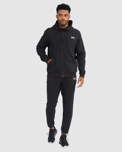 4 VA Sport | VA Tech Zip-Up Hoodie Black R315438 RVCA