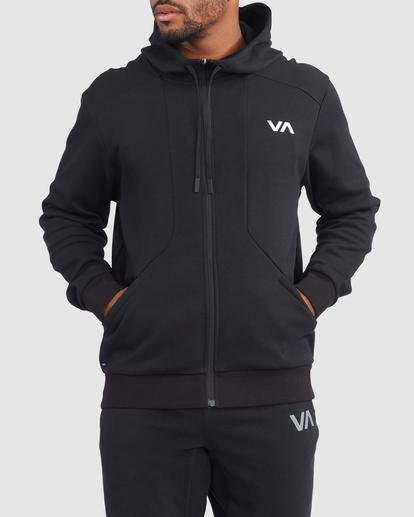 0 VA Sport | VA Tech Zip-Up Hoodie Black R315438 RVCA