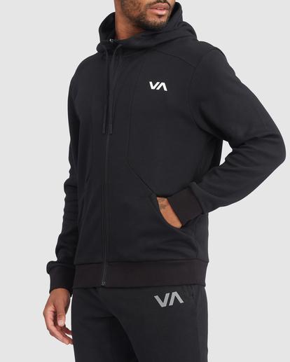 1 VA Sport | VA Tech Zip-Up Hoodie Black R315438 RVCA