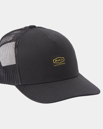 2 Dayshift Trucker Cap Black R315565 RVCA