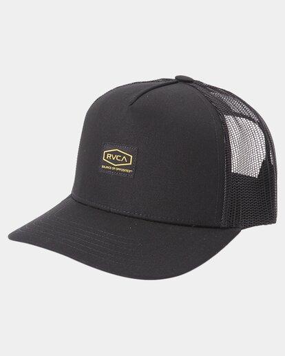 0 Dayshift Trucker Cap Black R315565 RVCA