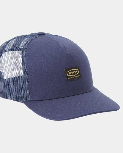 2 Dayshift Trucker Cap Blue R315565 RVCA
