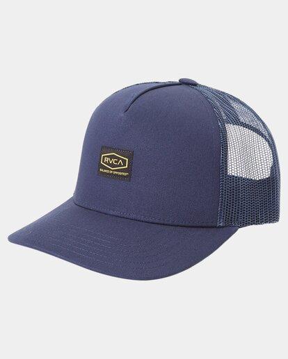 0 Dayshift Trucker Cap Blue R315565 RVCA