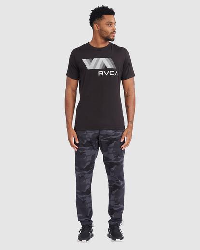 5 VA RVCA BLUR SHORT SLEEVE PERFORMANCE TEE Black R317072 RVCA