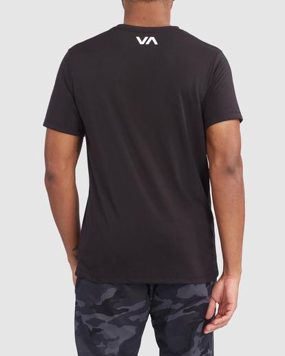 2 VA RVCA BLUR SHORT SLEEVE PERFORMANCE TEE Black R317072 RVCA