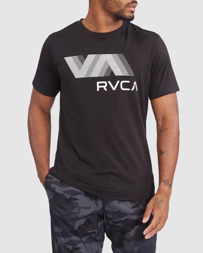 0 VA RVCA BLUR SHORT SLEEVE PERFORMANCE TEE Black R317072 RVCA
