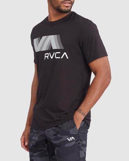 1 VA RVCA BLUR SHORT SLEEVE PERFORMANCE TEE Black R317072 RVCA