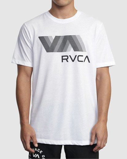 0 VA RVCA BLUR SHORT SLEEVE PERFORMANCE TEE White R317072 RVCA