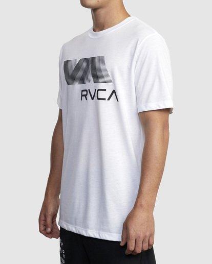 1 VA RVCA BLUR SHORT SLEEVE PERFORMANCE TEE White R317072 RVCA