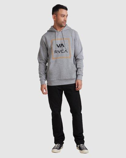4 VA ALL THE WAY HOODIE Grey R317152 RVCA