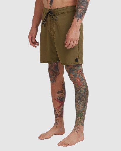 """0 Va Pigment Boardshort 17"""" Brown R317407 RVCA"""