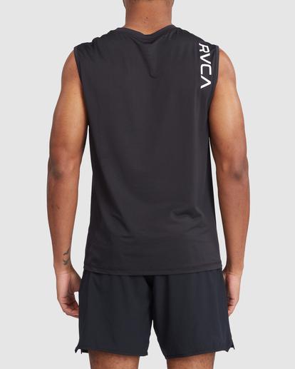 2 VA Sport | Sport Vent Workout Muscle Tank Top Black R318001 RVCA