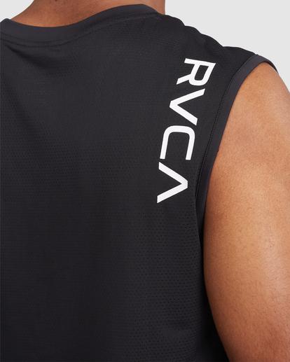 3 VA Sport | Sport Vent Workout Muscle Tank Top Black R318001 RVCA