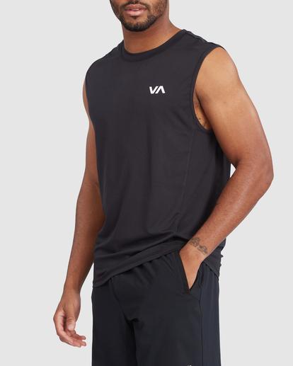 1 VA Sport | Sport Vent Workout Muscle Tank Top Black R318001 RVCA