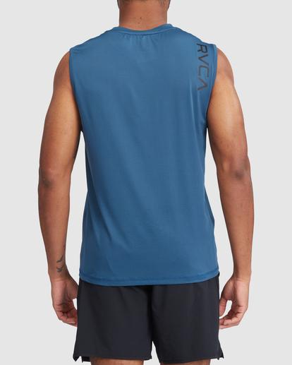 2 VA Sport | Sport Vent Workout Muscle Tank Top Blue R318001 RVCA