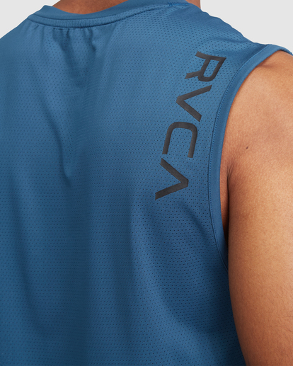 3 VA Sport | Sport Vent Workout Muscle Tank Top Blue R318001 RVCA