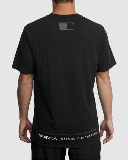 2 Reflective RVCA Balance Box Short Sleeve Tee Black R318043 RVCA