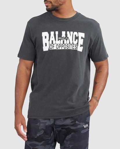 0 RVCA BALANCE BLOCK SHORT SLEEVE TEE Black R318046 RVCA