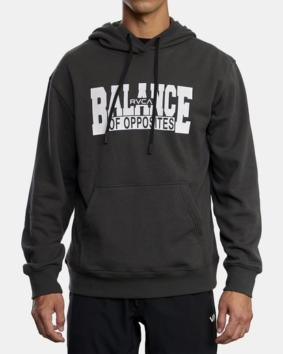 0 BALANCE BLOCK HOODIE Black R318153 RVCA