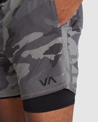 """4 VA Sport   Sport Vent Running Shorts 15"""" Camo R318320 RVCA"""