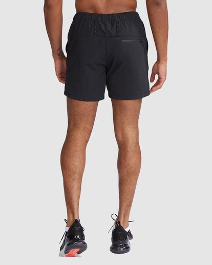 "2 Outsider Packable Elastic Shorts 17"" Black R318321 RVCA"