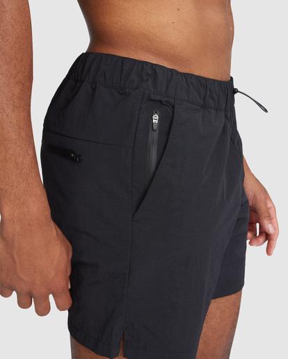 "5 Outsider Packable Elastic Shorts 17"" Black R318321 RVCA"