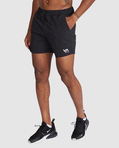 "0 Outsider Packable Elastic Shorts 17"" Black R318321 RVCA"