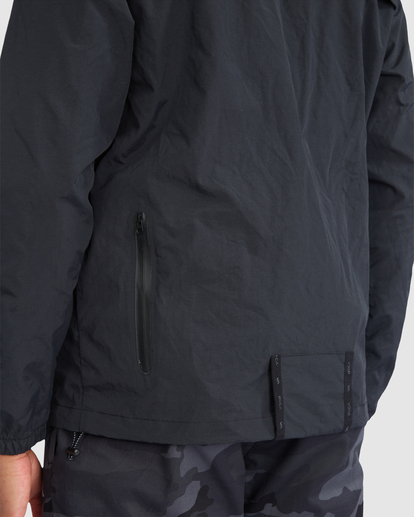 3 Outsider Packable Anorak Jacket Black R318432 RVCA