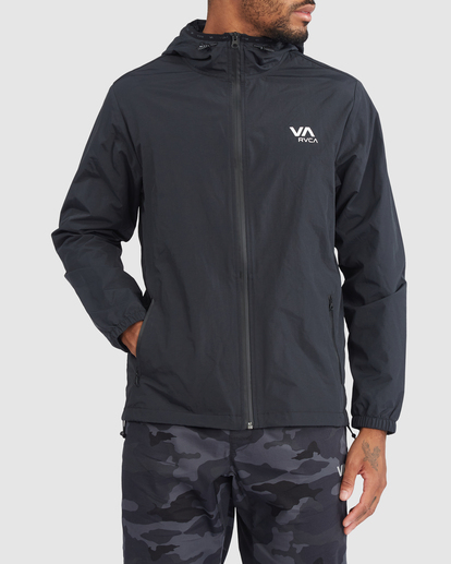 0 Outsider Packable Anorak Jacket Black R318432 RVCA