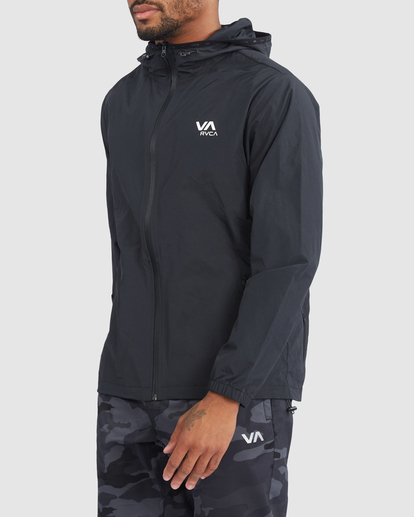 1 Outsider Packable Anorak Jacket Black R318432 RVCA