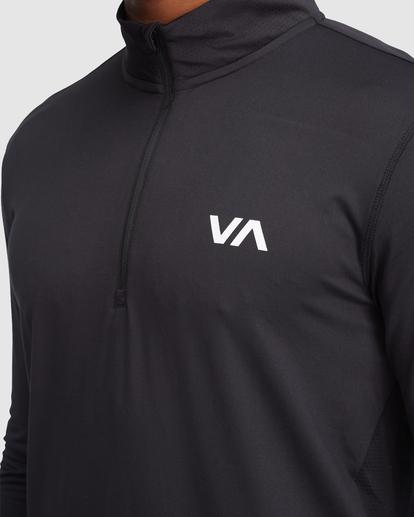 4 VA Sport | Sport Vent Long Sleeve Half-Zip Jacket Black R318433 RVCA