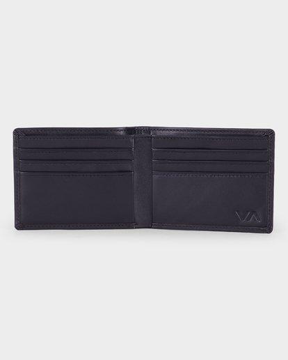 3 Crest Bifold Wallet Black R381492 RVCA