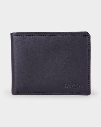 0 Crest Bifold Wallet Black R381492 RVCA