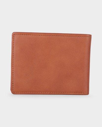 2 Crest Bifold Wallet Beige R381492 RVCA