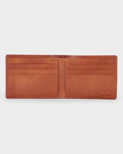 3 Crest Bifold Wallet Beige R381492 RVCA