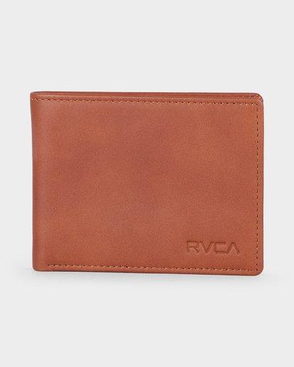 0 Crest Bifold Wallet Beige R381492 RVCA