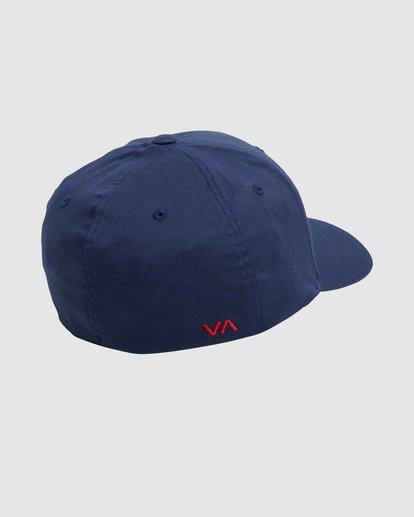 1 RVCA FLEX FIT CAP Blue R382568 RVCA