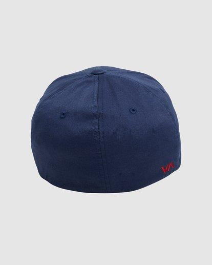 3 RVCA FLEX FIT CAP Blue R382568 RVCA
