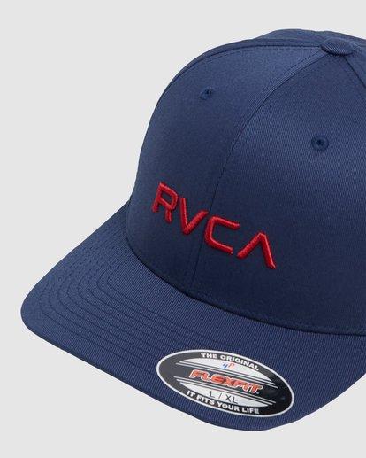 4 RVCA FLEX FIT CAP Blue R382568 RVCA