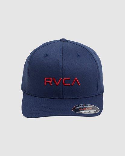 2 RVCA FLEX FIT CAP Blue R382568 RVCA