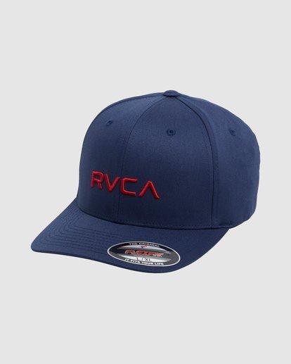 0 RVCA FLEX FIT CAP Blue R382568 RVCA