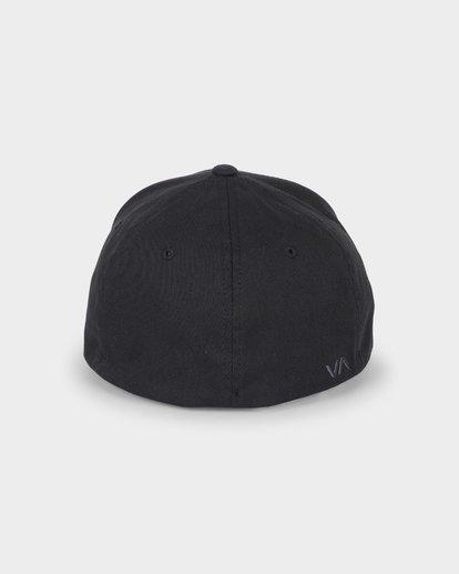 2 RVCA FLEX FIT CAP Black R382568 RVCA