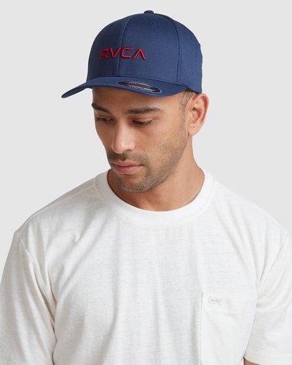 6 RVCA FLEX FIT CAP Blue R382568 RVCA