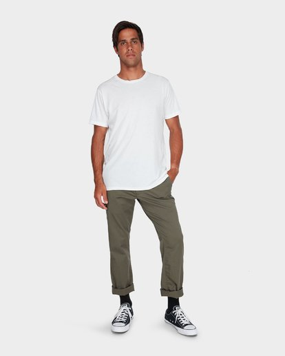 3 Weekend Stretch Pants Green R383273 RVCA