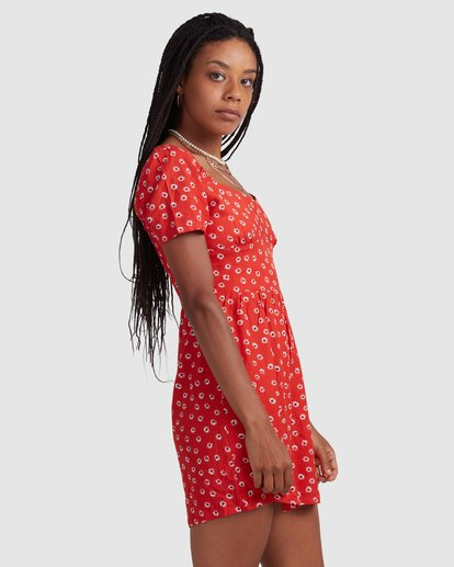 4 FENCED DRESS Orange R405756 RVCA