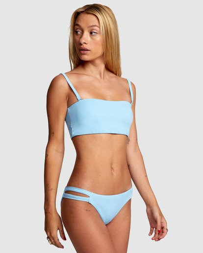 5 Solid Full Bikini Bottom Blue R406861 RVCA